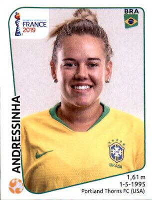 Bescheiden Panini Frauen Wm 2019 Sticker 225 - Andressinha - Brasilien