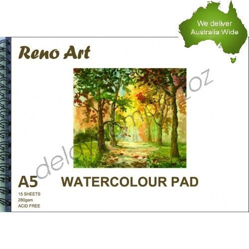 1 of 1 - A5 Watercolour Pad 280gsm Atrist Painting Art Paper Sketchbook Sketch Drawing