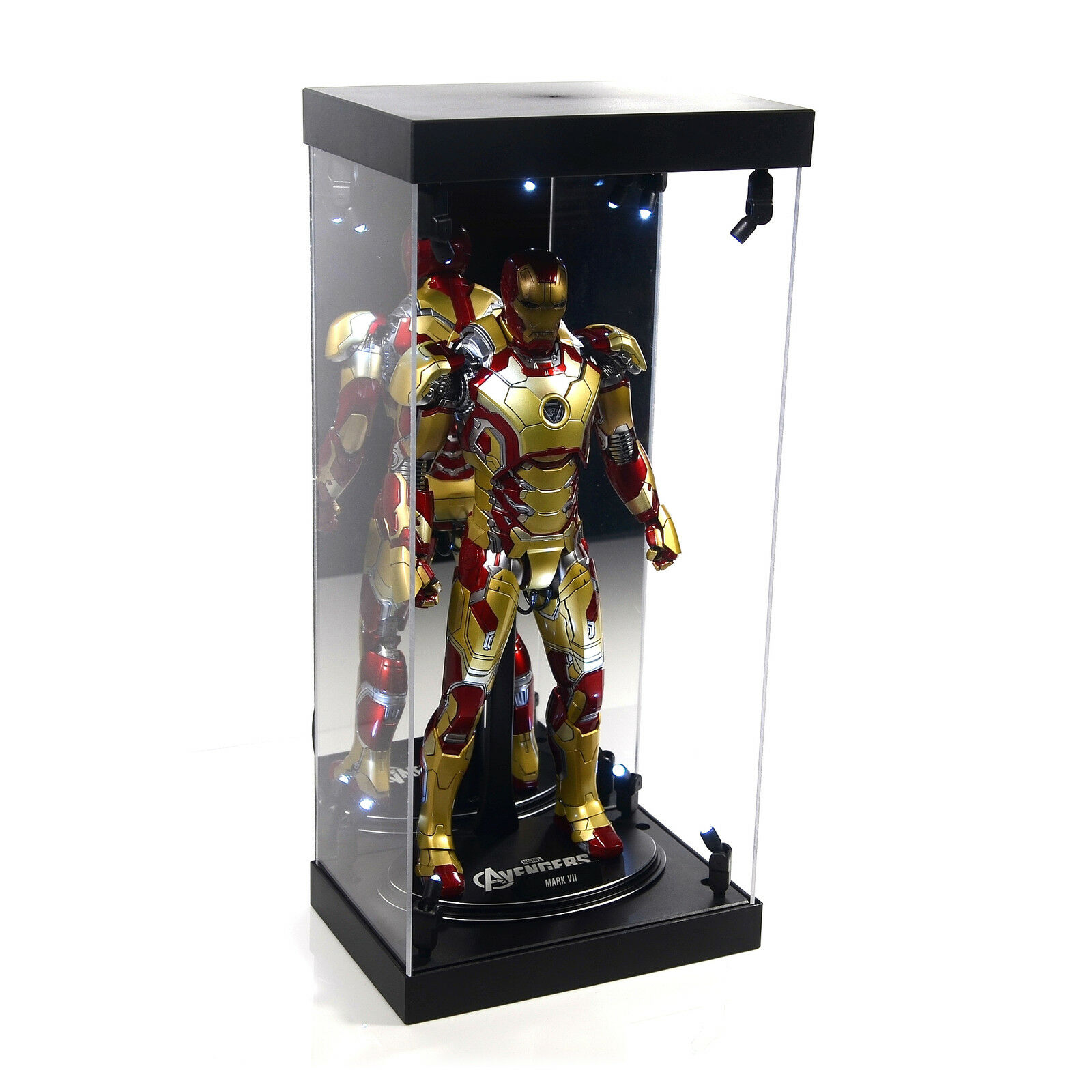 Acrylic Display Case LED lumière Box for  12  1 6th Scale The Flash Action Figure  mode