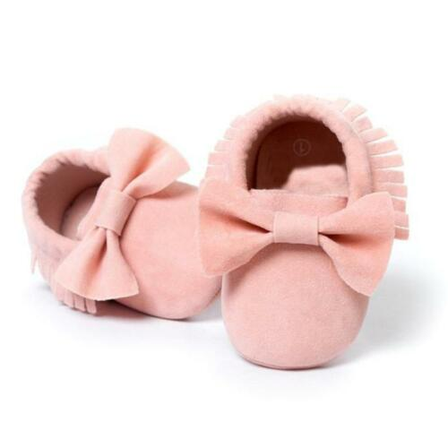 Baby Soft Sole suede//Leather Shoes Infant Boy Girl Toddler Moccasin 0-18m