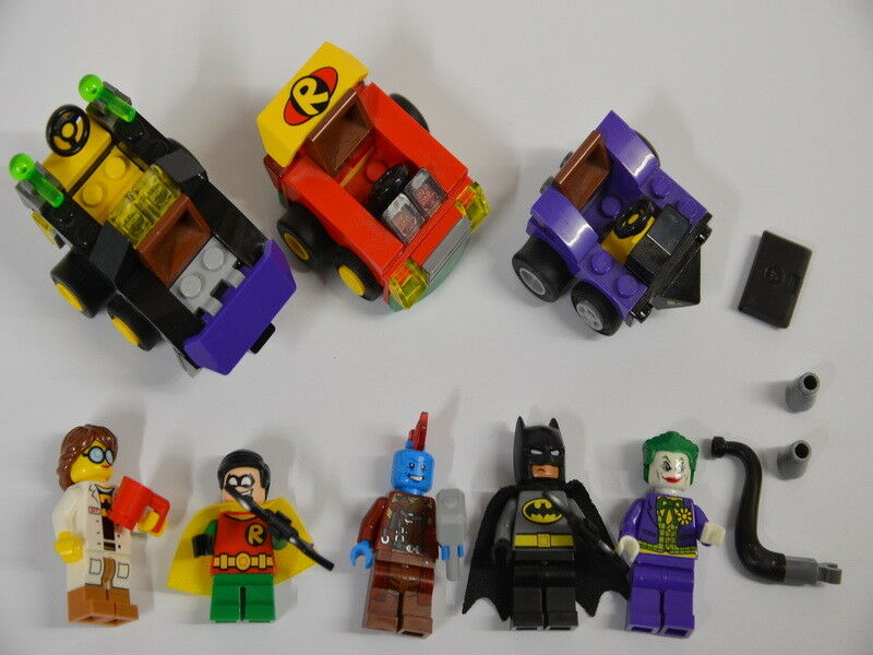 34) LEGO Set Marvel Super Heroes personnages Joker Robin Batman UA,  3 voitures
