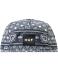 Huf-BANDANA-VOLLEY-Navy-White-5-Panel-Cap-Adjustable-Men-039-s-Hat miniatuur 2