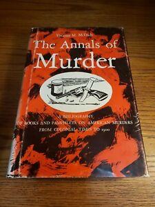 THE-ANNALS-OF-MURDER-Thomas-McDade-1961-First-Edition-Rare-Book