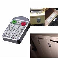 Safe Electronic Keypad Number Code Digital Password Cabinet Smart Lock Sliver