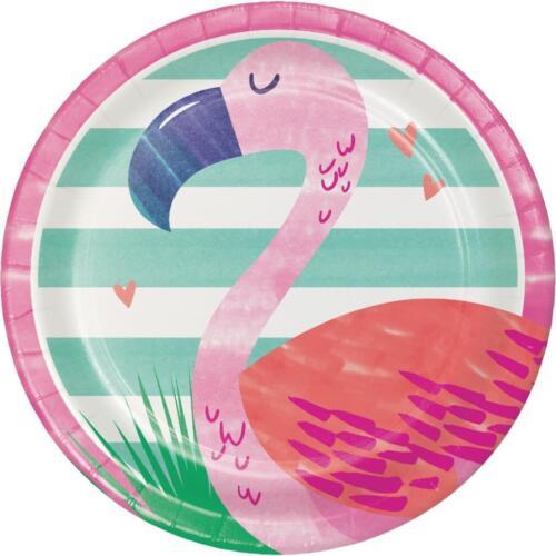 approx. 17.78 cm 16 o 32 Flamingo Diseño Piña N amigos papel Almuerzo Platos 7 in tamaño 8