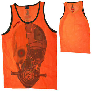ORANGE-MESH-ROBOT-HEAD-SKULL-MEN-039-S-UNISEX-EMO-ALTERNATIVE-GOTH-STEAMPUNK-MEDIUM