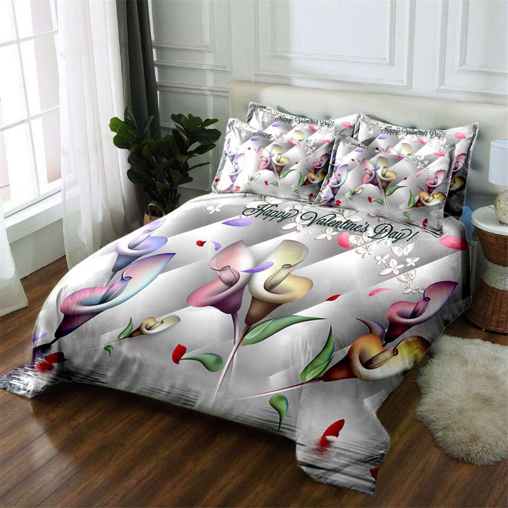 Trumpet Flower 3D Printing Duvet Quilt Doona Covers Pillow Case Bedding Sets