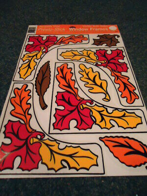 Fall Leaves Vinyl Static Cling Window Decorations Reusable Ebay
