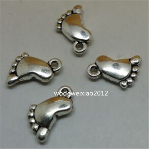 20pc Retro Tibetan Silver foot Charm Bead Pendant accessories Findings JP578