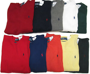 Polo Ralph Lauren Mens RL Heavy Cotton Knit Pony Logo Solid ...