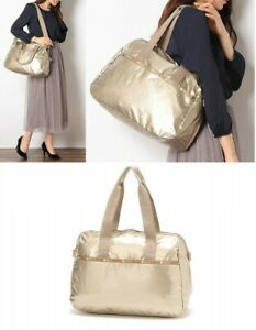LeSportsac-Japan-Exclusive-Travel-HARPER-BAG-Champagne-Gold-Glitter-Japan-EMS