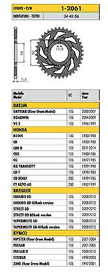 1-2061 - Corona Passo 428 Per Honda Cb 125 1983 19841 985 1986 1987 1988