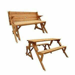 Wondrous Leisure Season Folding Picnic Table And Bench Solid Wood Decay Resistant Spiritservingveterans Wood Chair Design Ideas Spiritservingveteransorg