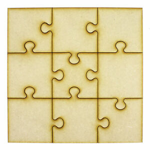 Wooden Craft Blank Jigsaw Puzzle Pieces