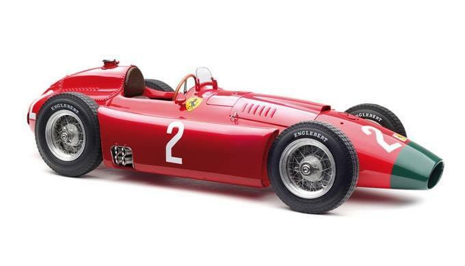 1956 Ferrari D50 Long Nose Grand Prix Alemania  2 Peter Collins escala 1 18 por CMC M-185