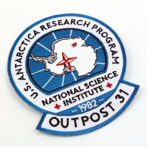 The Thing Outpost #31 Research Program Antarctica 1982 Expedition Patch Sew Iron