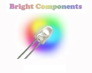 5-x-Rainbow-Colour-LED-3mm-RGB-Slow-Cycle-UK-1st-CLASS-POST