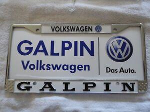 Galpin Vw Volkswagen San Fernando License Plate Frame Metal No