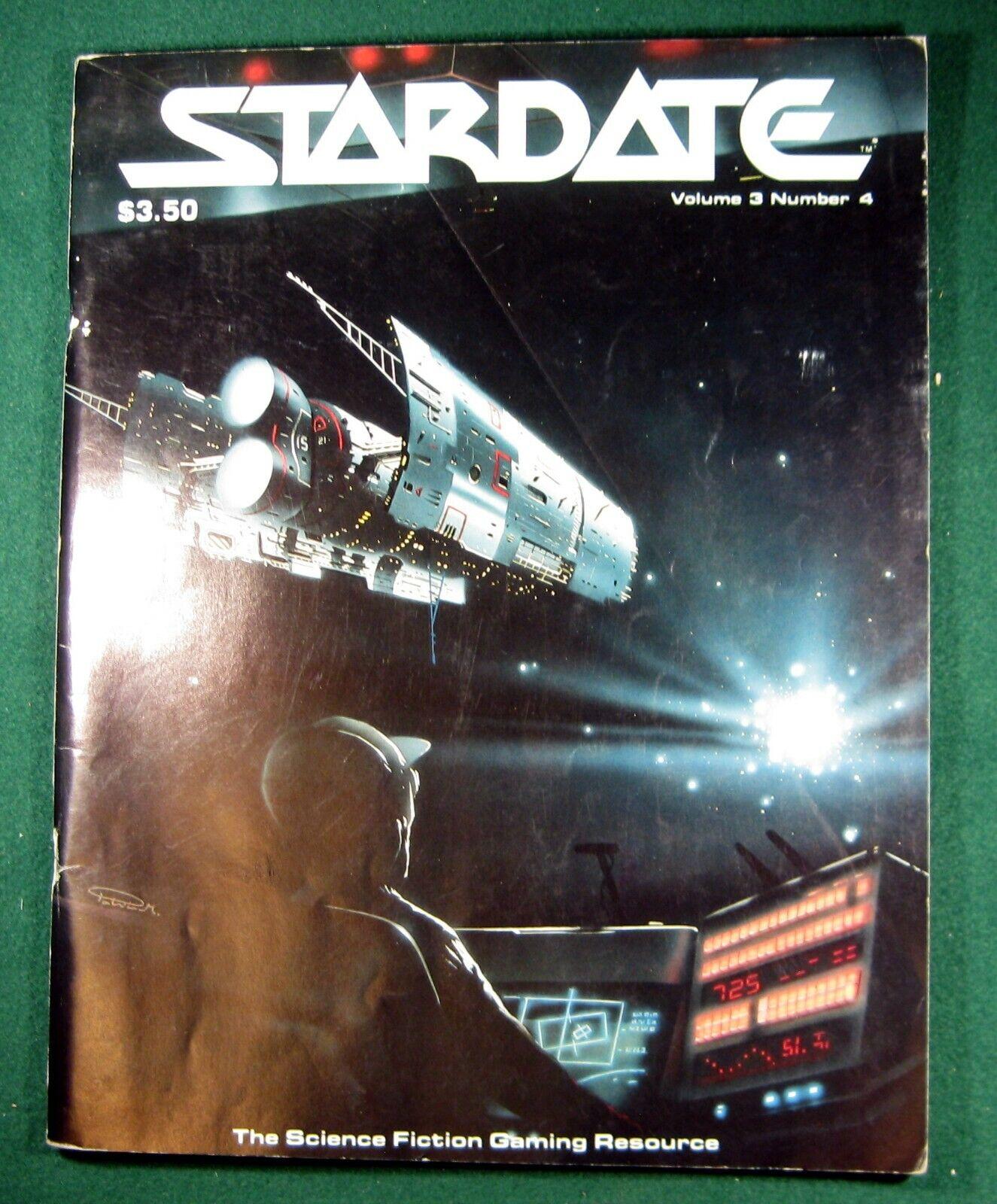 Stardate Magazine Vol 3,  No. 4; Battletech, Traveller RPG, Star Trek, (1987)