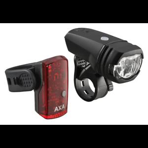 schwarz AXA Batterie-Beleuchtungsset Green Line 50 LUX