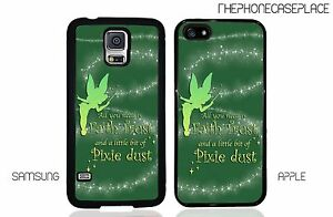 Disney-Peter-Pan-Tinker-Bell-Quote-Apple-iPhone-or-Samsung-Phone-Case-Cover