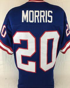 48a701092 Image is loading Joe-Morris-Unsigned-Custom-Sewn-Blue-Football-Jersey-