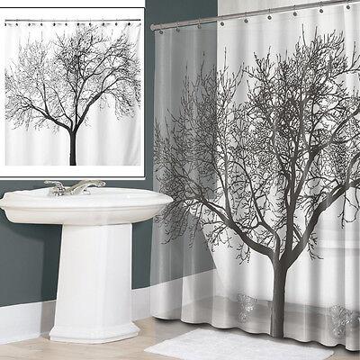 180*180cm Tree Design Waterproof Bathroom Bath Shower Curtain within 12 Hooks