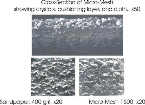 """MICRO-MESH 15.2cm x 7.6cm 12000 Grade Polishing Cloth Sheet 6/""""x3/"""""""
