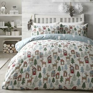 Fusion-STAG-Christmas-Bedding-Winter-Duvet-Cover-Set-Xmas-Brushed-Cotton-Fun