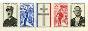 FRANCE-1971-Bande-1698A-general-De-Gaulle-neuf