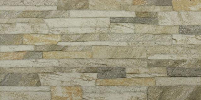 Feinsteinzeug Wandverkleidung Brick-Naturstein 60x30 Wandfliese Natursteinoptik