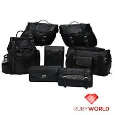 NEW 9 Pc Discount Motorcycle Luggage Saddlebags Tool, Barrel Bags Backpack Set