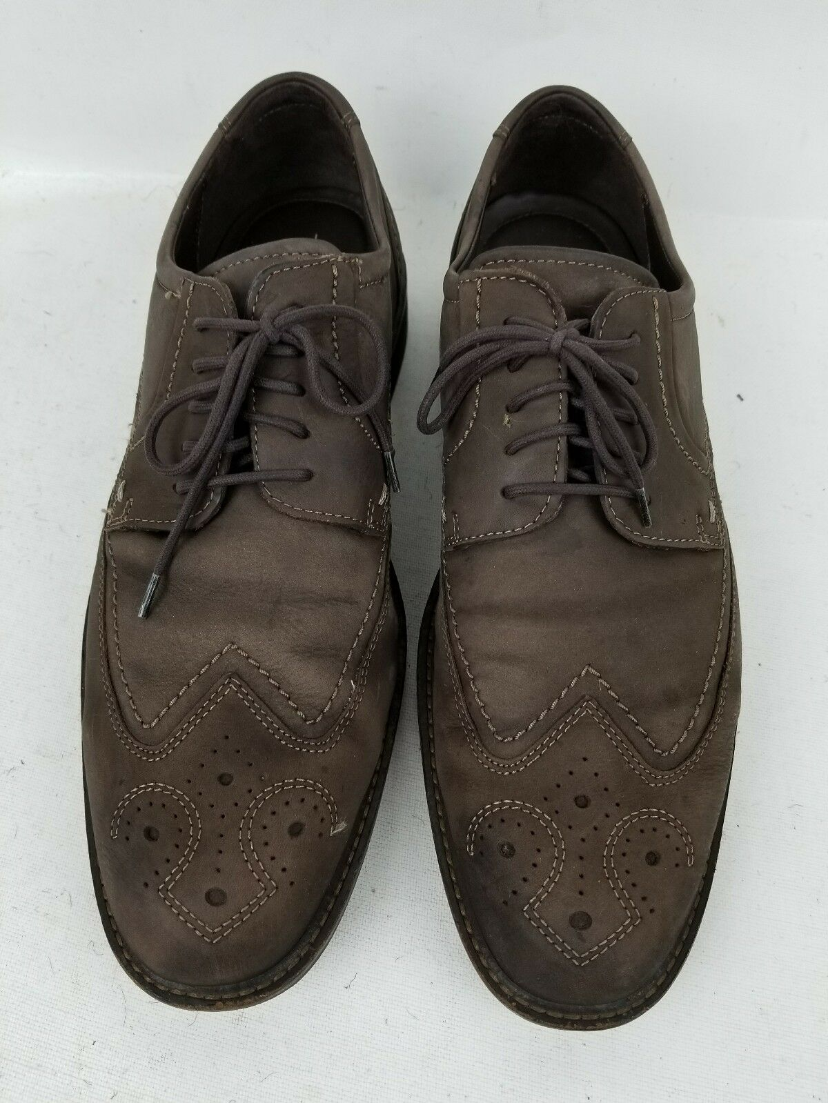 Ecco Authentic Men City Walker Wingtip Wingtip Wingtip Brown Leather