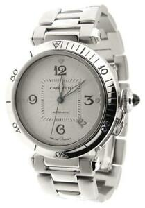 Mint-Mens-Cartier-Pasha-2378-Automatic-Stainless-Steel-38mm-Date-Watch