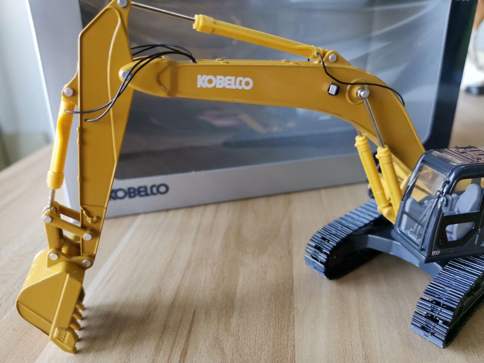 almacén al por mayor Excavadora Kobelco Kobelco Kobelco SK330-8 Excavator 1 50 escala Diecast Modelo del Coche de ingeniería de Color amarillo  barato