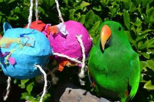 DICKY-BIRD-TOYS-4-034-CLUSTER-PARROT-PARTY-BALLS-FREE-POSTAGE-ORDERS-50