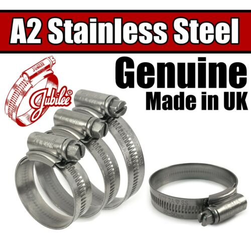 Genuine Jubilee A2 304 Stainless Steel Clips Hose Clamps Worm Drive 9.5-318mm