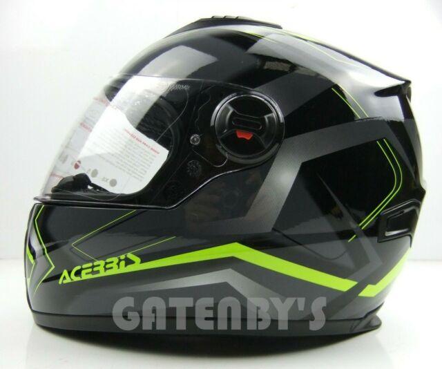 New Acerbis FS-807 Black Helmet Road Motorcycle Full Face Touring ECER22 HONDA