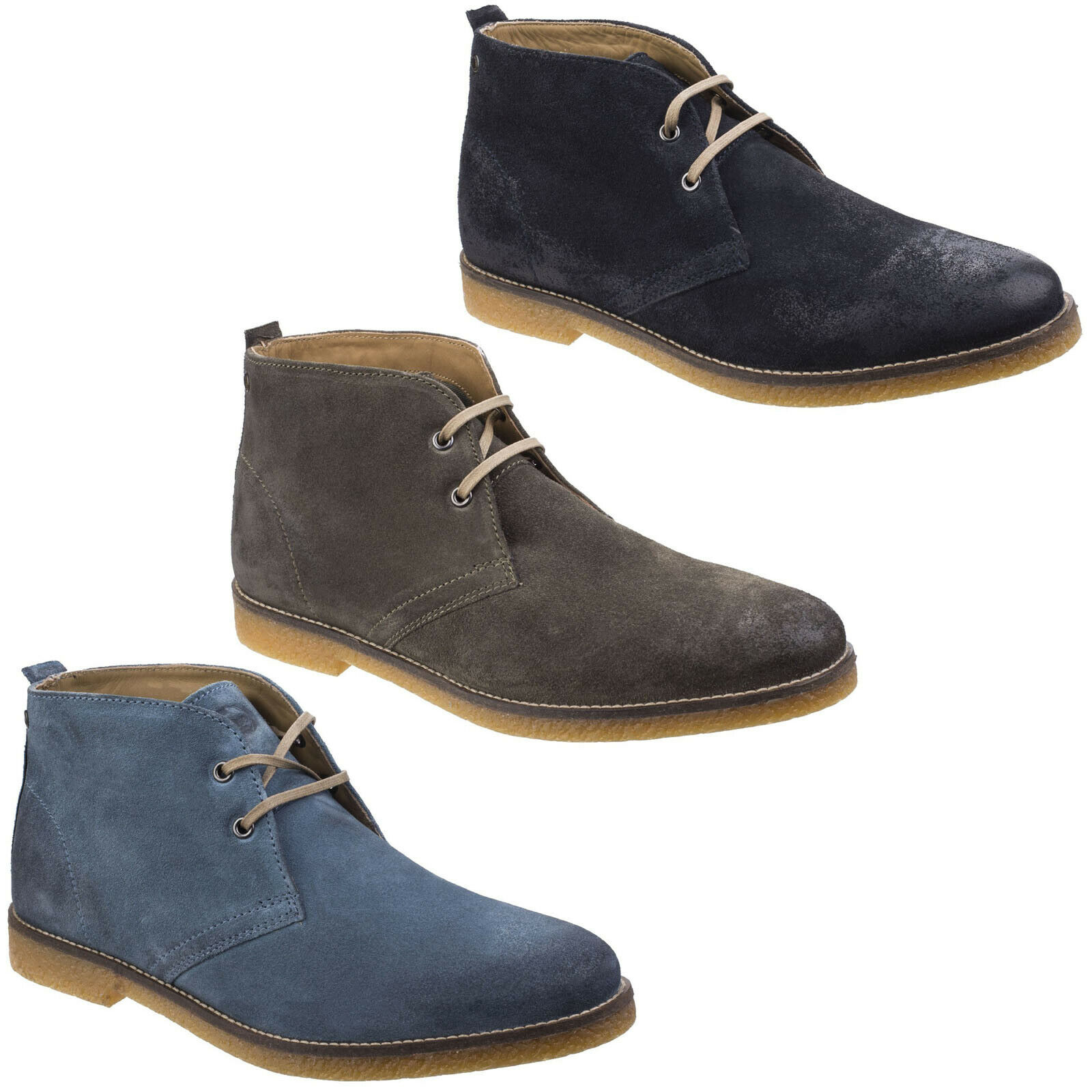 Base London Perry Desert Stiefel Mens Suede Leather Ankle Chukka Lace Up schuhe