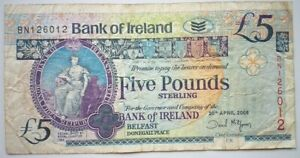 NORTH-IRELAND-5-Pounds-2008-P-83-Bank-of-Ireland-Belfast
