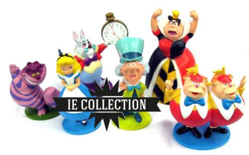 Disney Alice Im Wunderland Set 6 Figure Figuren Kuchenteller Action