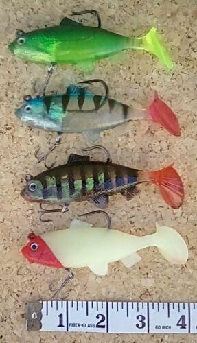 Multi listing Pike Bass /& Mackerel Selection soft plastic swim bait lures