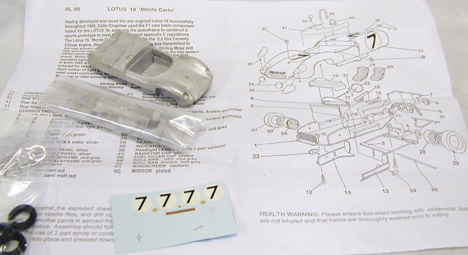 colores increíbles 1 1 1 43 RL88K Lotus 19 KIT BY SMTS  Precio al por mayor y calidad confiable.