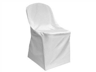 50 White Folding Chair Cover-Round