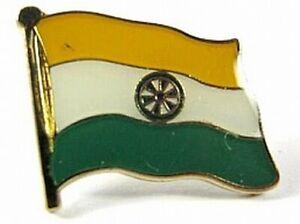 Indien-Flaggen-Pin-Anstecker-1-5-cm-Neu-mit-Druckverschluss
