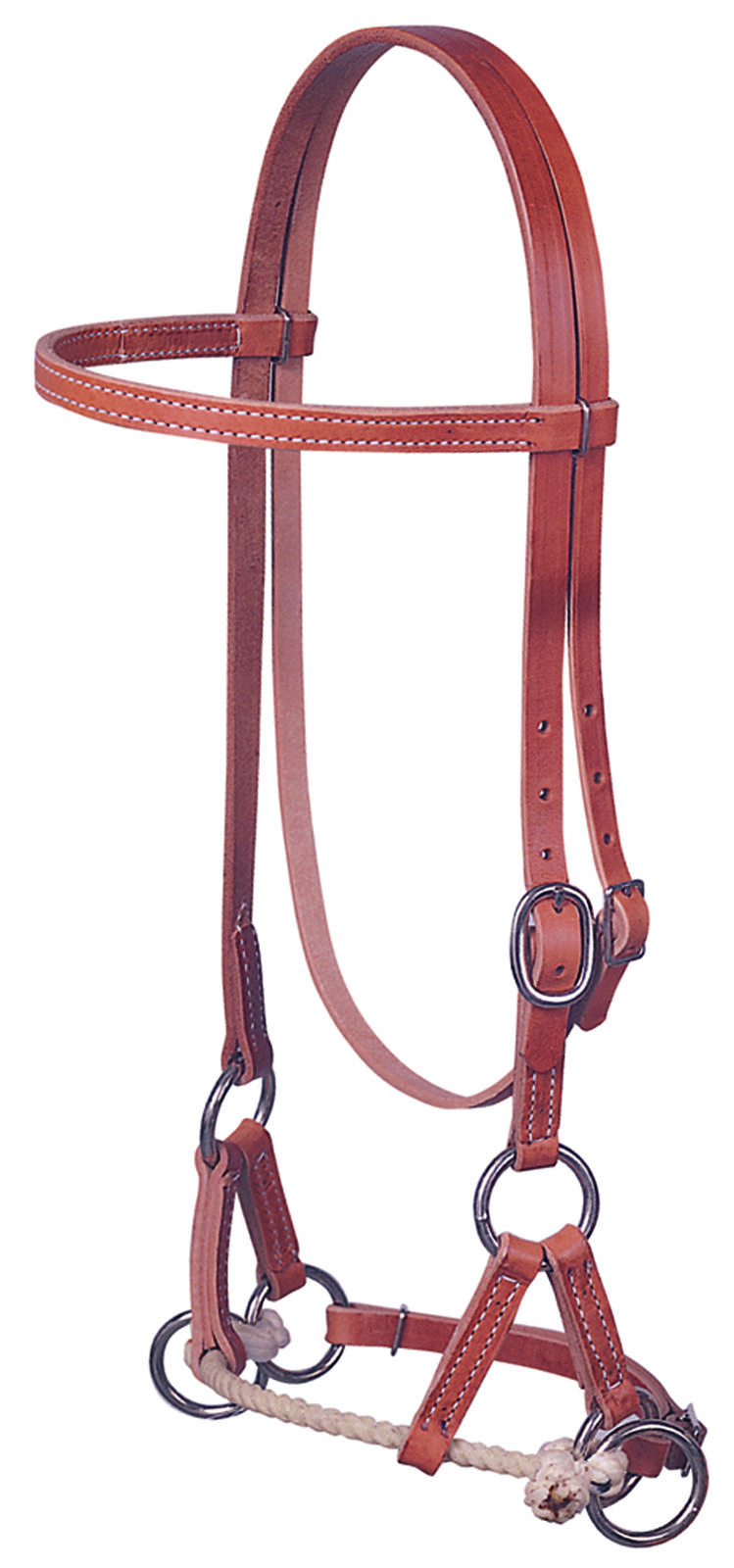 Weaver Leather Harness Leather Single Rope Side Pull Western,10-0282
