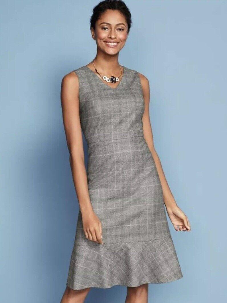 NWT TALBOTS GLEN PLAID FABRIC WOVEN IN ITALY HIGH QUALITY DRESS Größe 8P