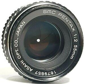 Asahi-Pentax-SMC-55mm-f2-Prime-Objektiv-PK-Mount-UK-Schnelle-Post
