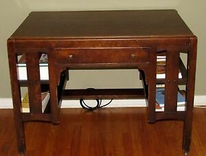 Superieur Image Is Loading Antique Signed LIMBERT ARTS Amp CRAFTS Library Table