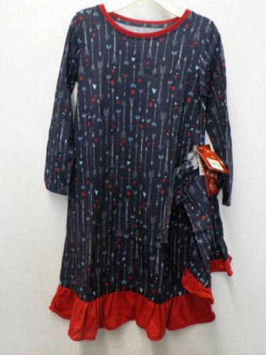 GIRLS 4T JAMMIES FAMILIES NAVY ARROW HEARTS NIGHTGOWN DOLL GOWN PAJAMAS #11128